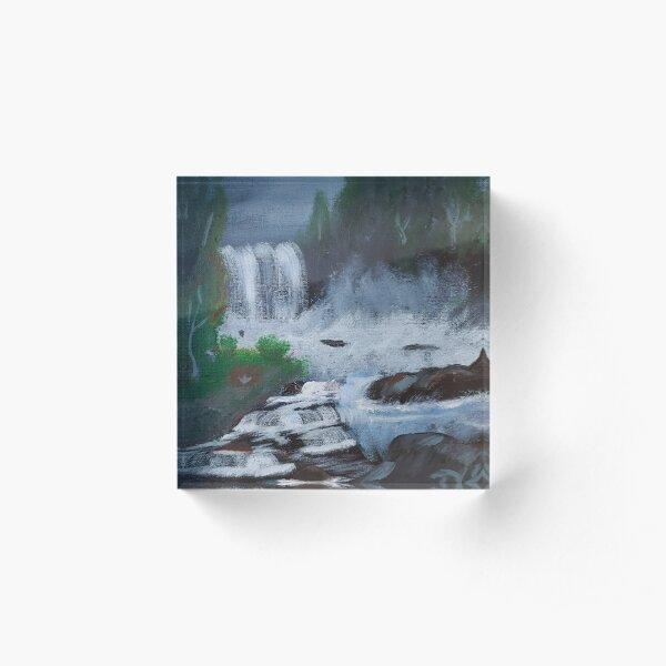 Black Waterfall Acrylic Block