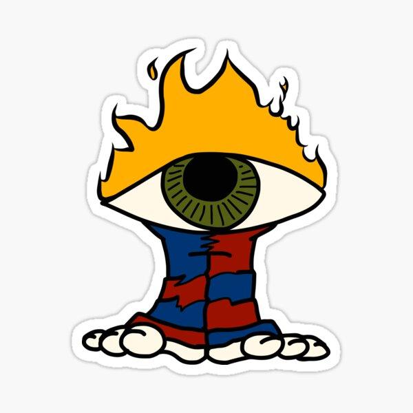 Flaming Eye Guy Sticker