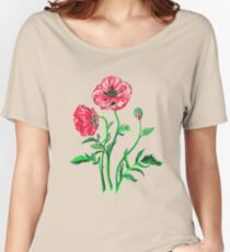 Wild Poppies Isolated Women's Relaxed Fit T-Shirt