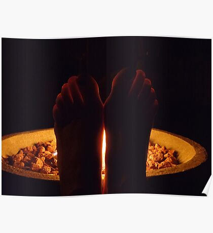 Fiery Toes Poster