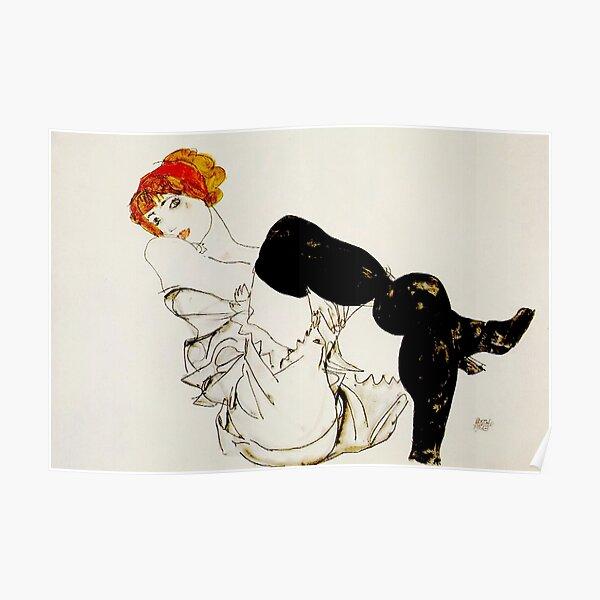 "Egon Schiele | ""Woman in Black Stockings"" Poster"