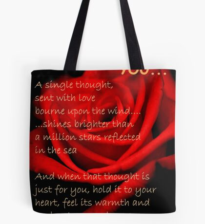 A SINGLE THOUGHT Tote Bag