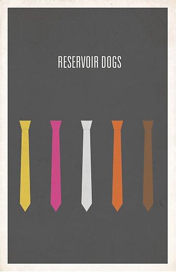 Reservoir Dogs minimalist poster by Hunter Langston