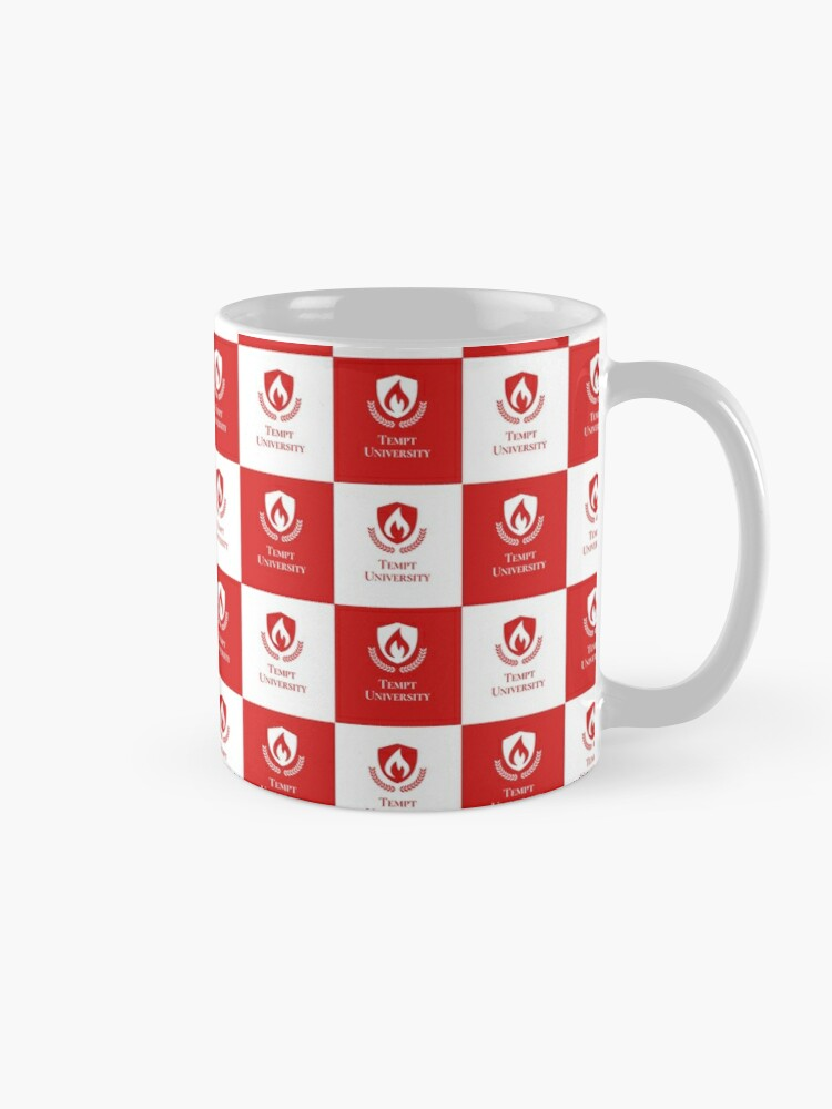 Alternate view of Tempt University Patterned Background Mug