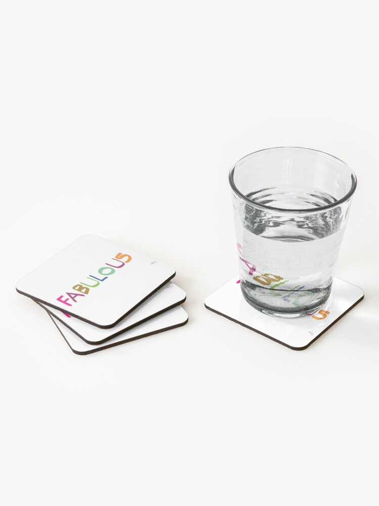 Alternate view of FABULOUS Coasters (Set of 4)