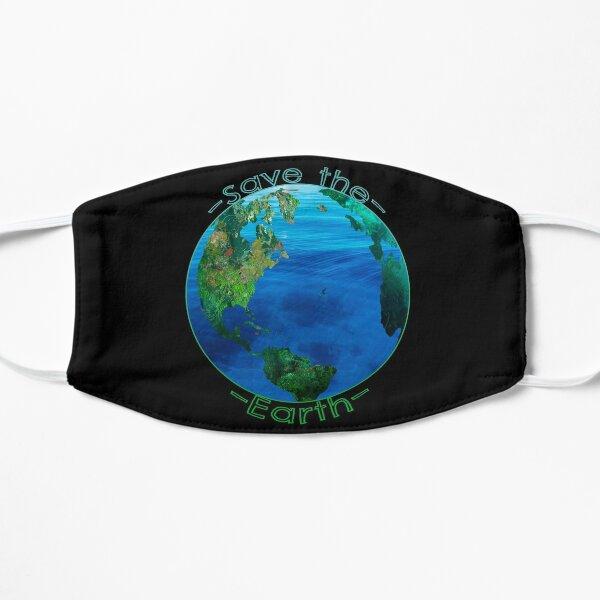 Rette die Erde Flache Maske