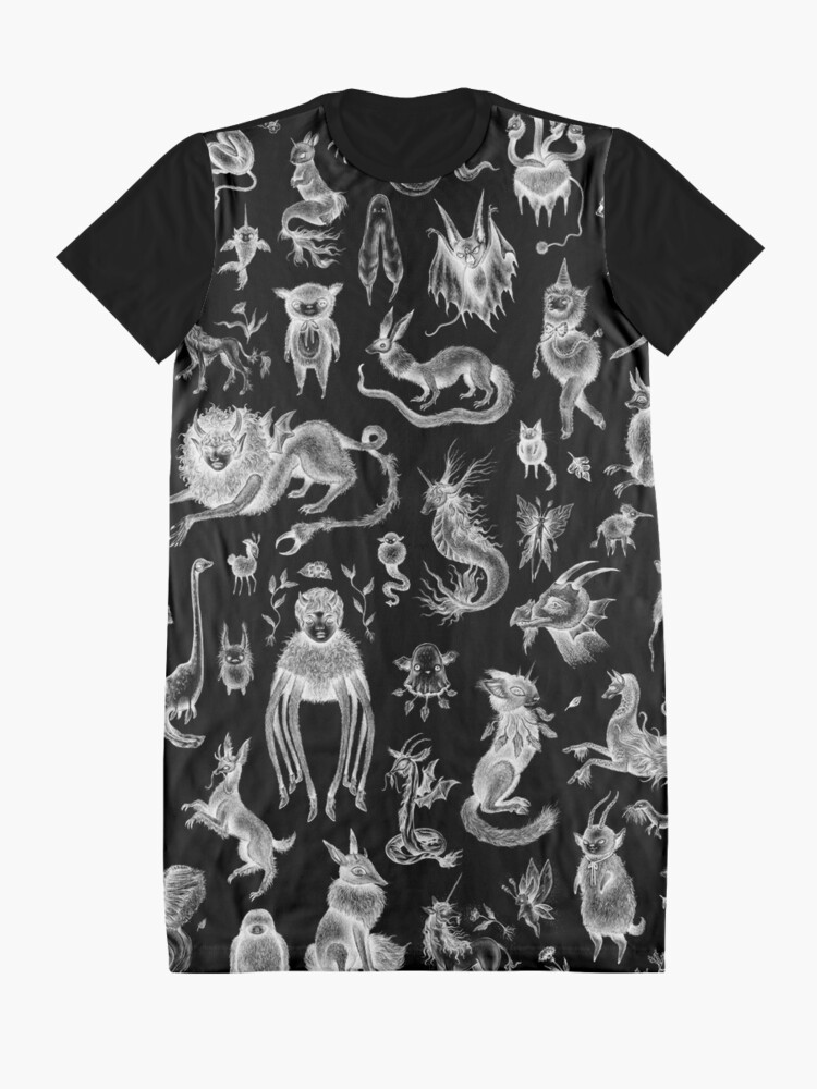 Alternate view of We Are Not Alone - inverted Graphic T-Shirt Dress