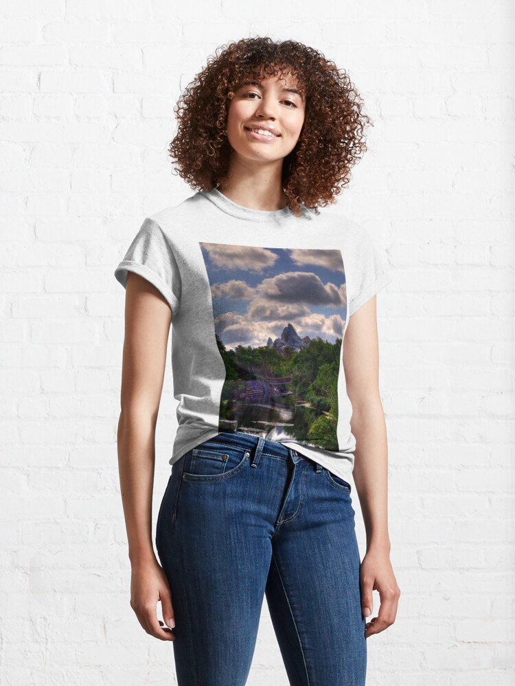 Alternate view of Cloudy Everest Classic T-Shirt