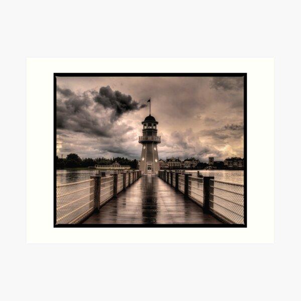 Stormy Lighthouse  Art Print
