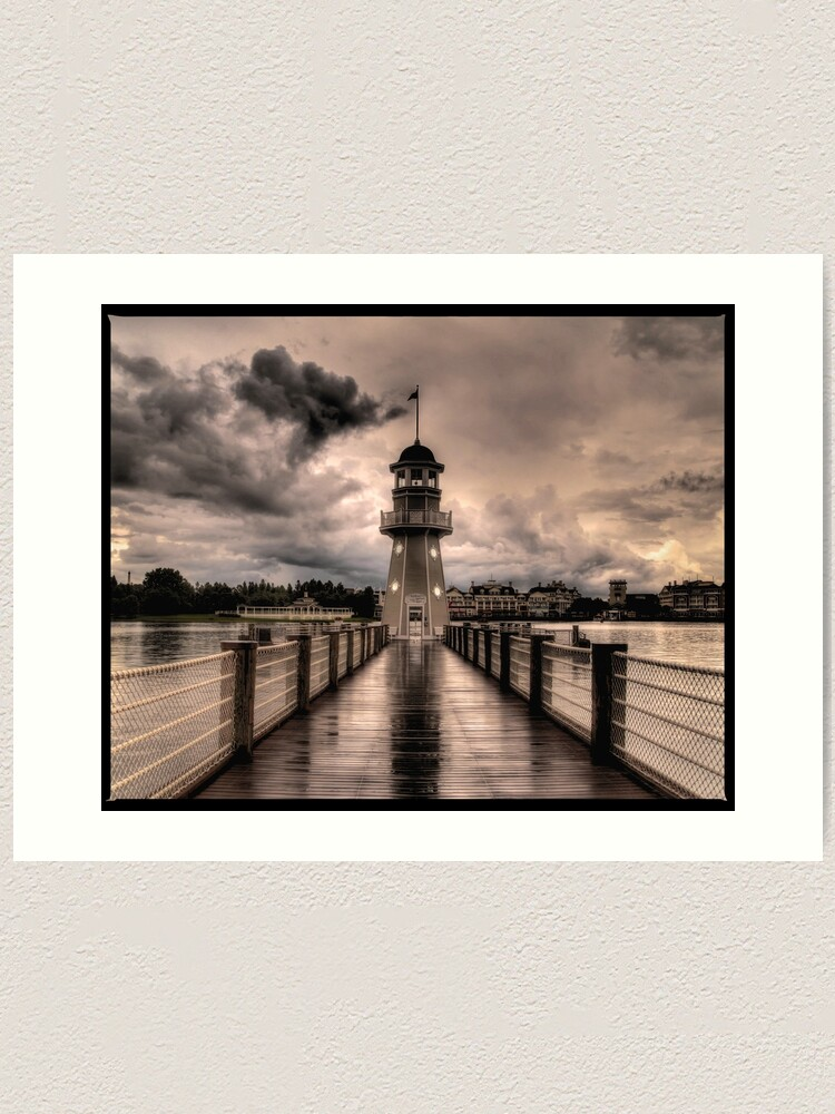 Alternate view of Stormy Lighthouse  Art Print
