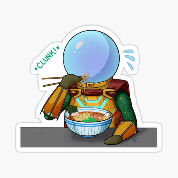 Mysterio Enjoys(?) Some Ramen Sticker