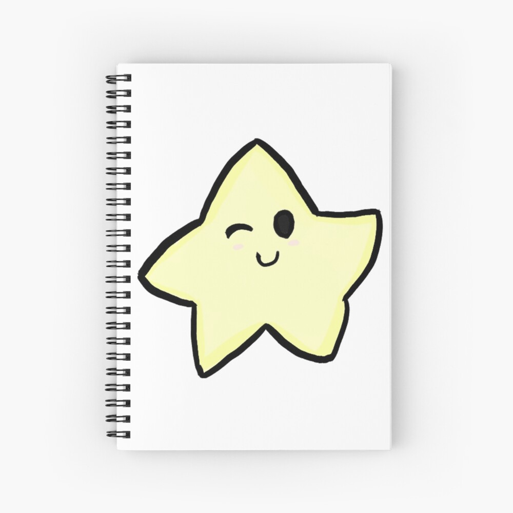 winking star Spiral Notebook