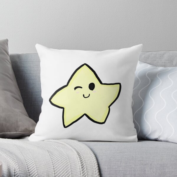 winking star Throw Pillow