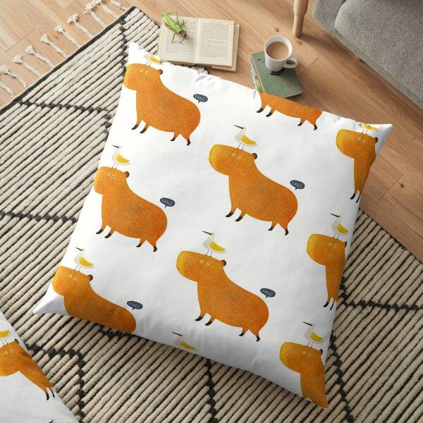 Hapybara Capybara Floor Pillow
