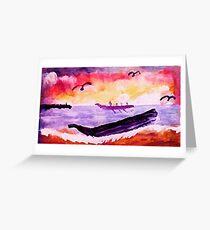 Coming ashore, #2, watercolor Greeting Card