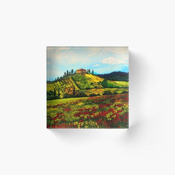 Tuscan Villa in Tuscany, Italy Acrylic Block