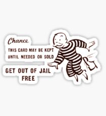 Get Out of Jail Free Sticker
