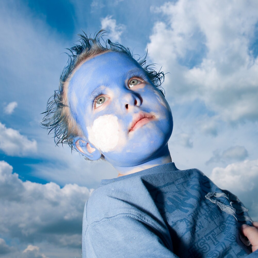 Blue Boy and Sky by Heather Buckley