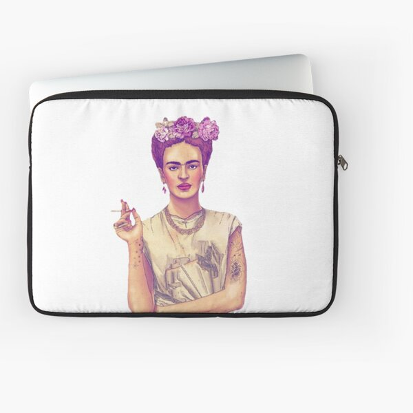 Smoking Frida Kahlo Laptop Sleeve