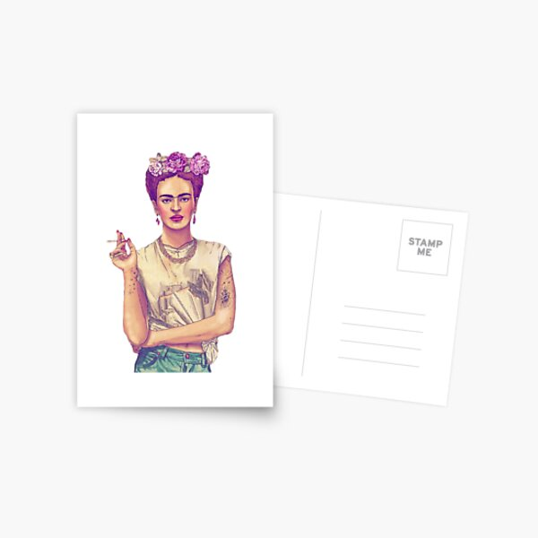 Smoking Frida Kahlo Postcard