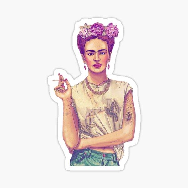 Smoking Frida Kahlo Sticker
