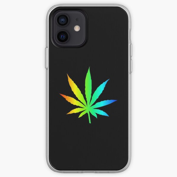 Rainbow Marijuana Leaf iPhone Soft Case