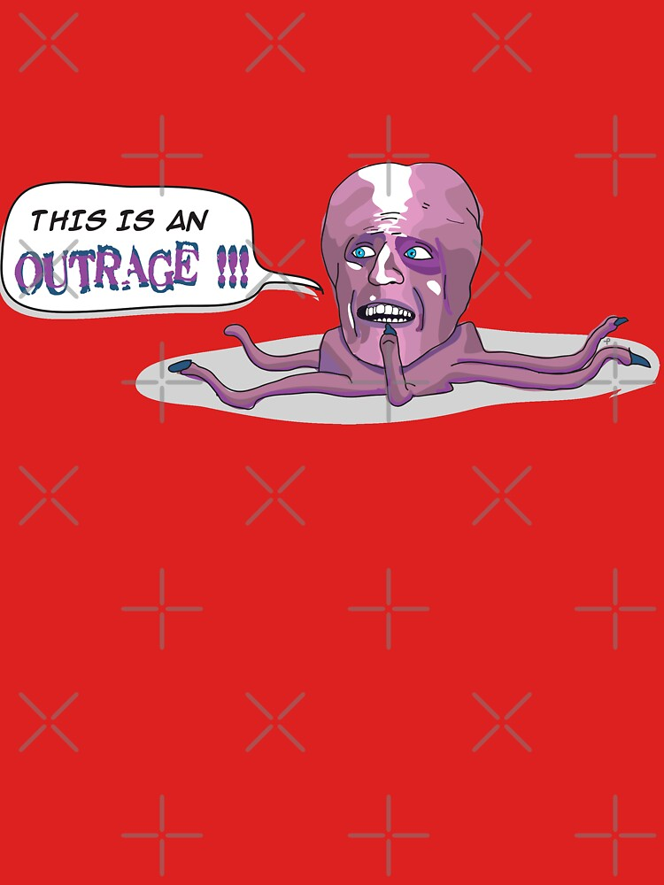 The Mighty Boosh - This is an outrage! - Tony Harrison   Unisex T-Shirt