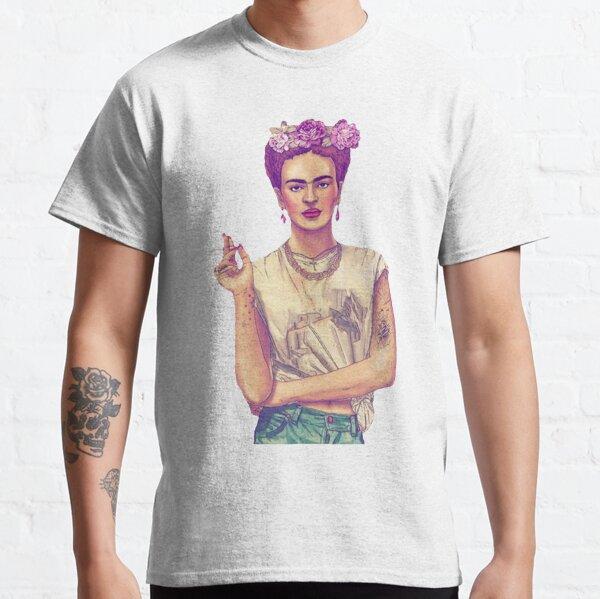 Fumar frida kahlo Camiseta clásica