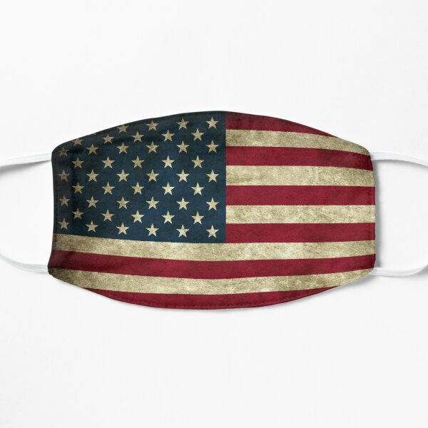 Face Mask American Flag Flat Mask