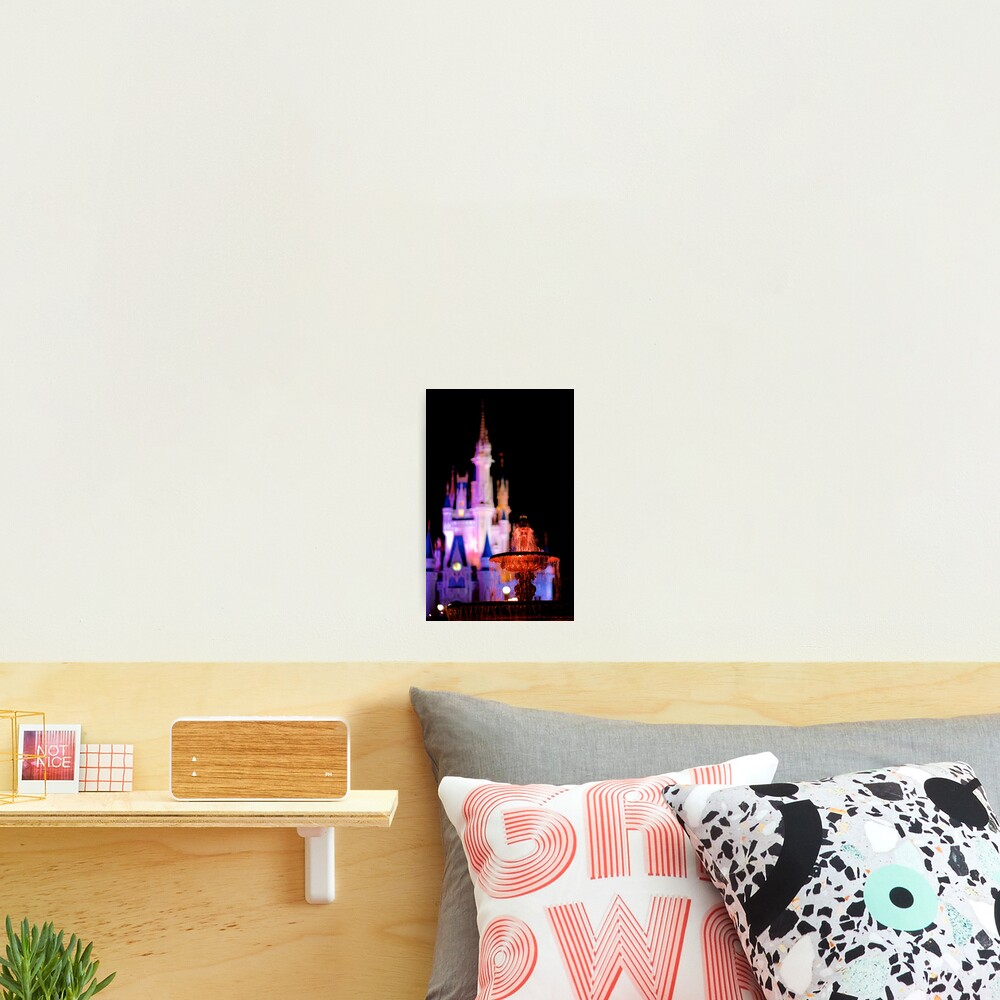 Warm Fountain, Cool Castle Photographic Print