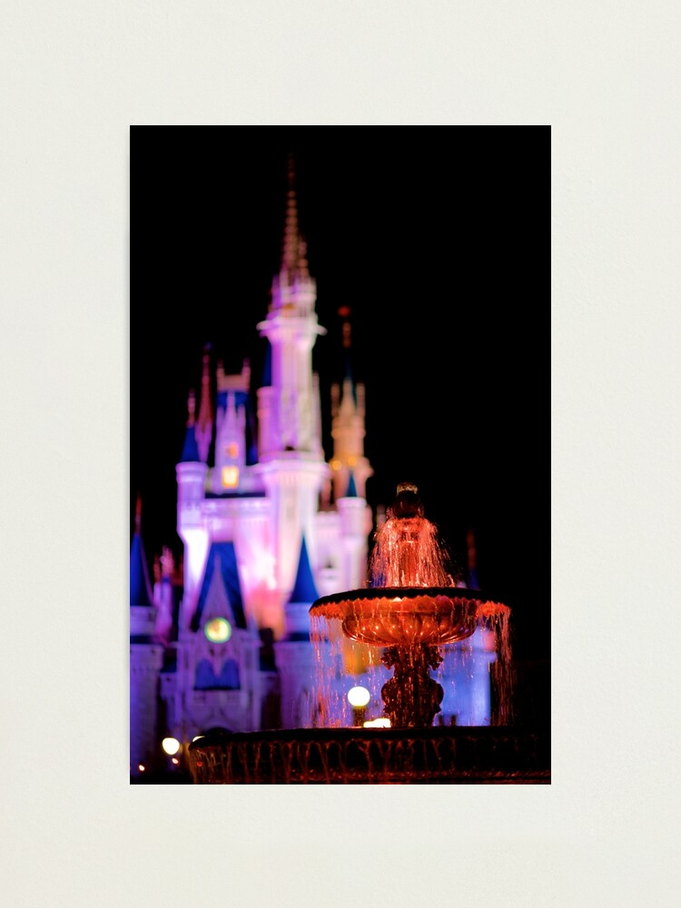 Alternate view of Warm Fountain, Cool Castle Photographic Print