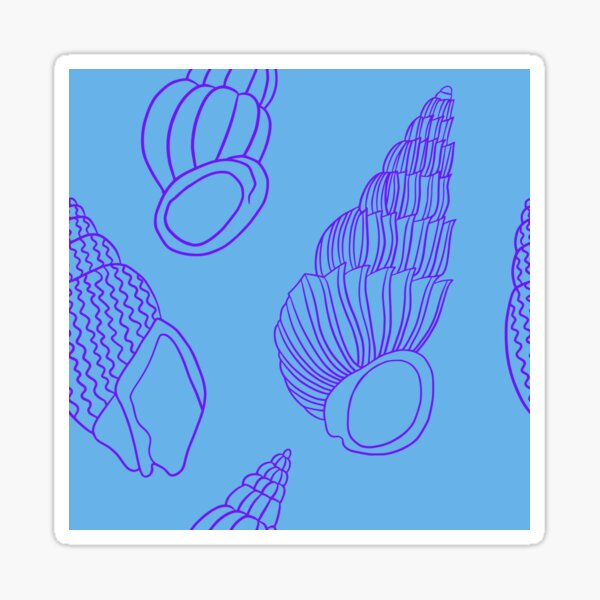 Shells from the sea Sticker