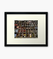 Lots of little screws, hooks and rings Framed Print