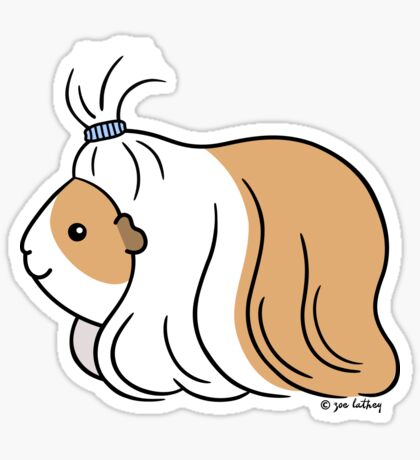 Guinea-pig Tail - long haired cavy Sticker