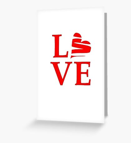 Stylized Love Greeting Card