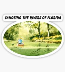 Canoeing The Rivers Of Florida II Sticker