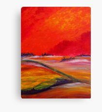 Sundown Colours Canvas Print