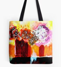 Still life with Flowers in two vases Tote Bag