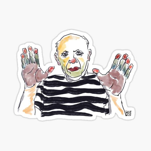 Picasso's Hands Sticker