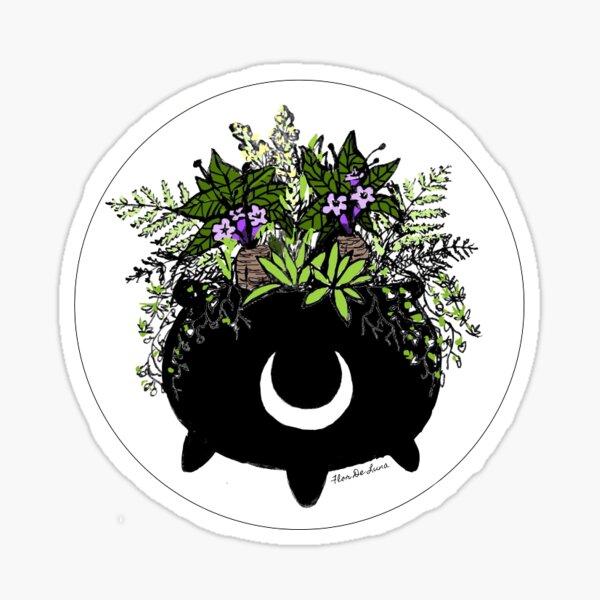 The green witch's cauldron Sticker