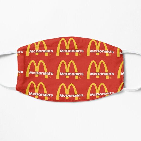 logotipo de mcdonalds Mascarilla plana