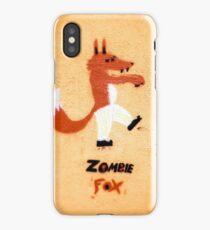 Zombie Fox Stencil Graffiti. iPhone Case/Skin
