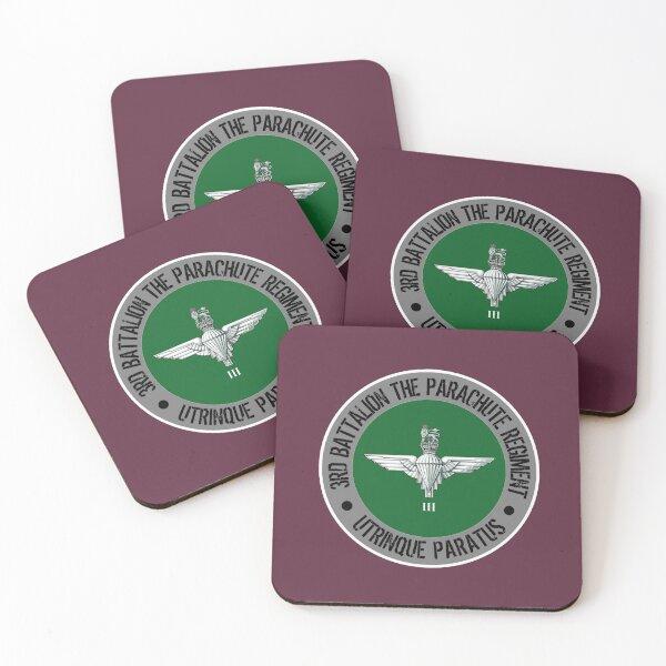 The Parachute Regiment 3 PARA Coasters (Set of 4)