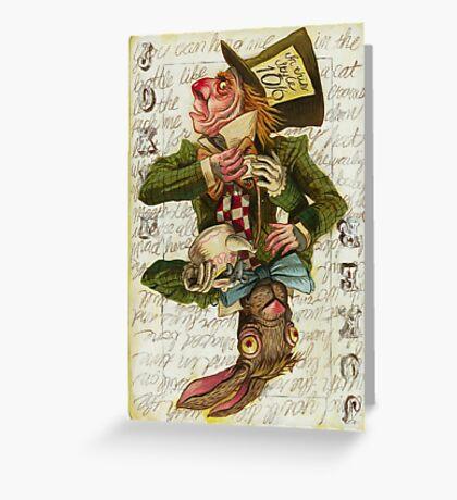 Mad Hatter Joker Card Greeting Card