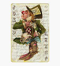 Mad Hatter Joker Card Fotodruck