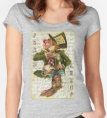 Mad Hatter Joker Card Fitted Scoop T-Shirt