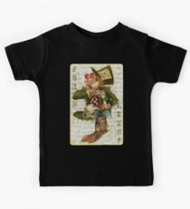 Mad Hatter Joker Card Kids Tee