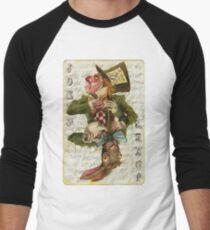 Mad Hatter Joker Card Men's Baseball ¾ T-Shirt