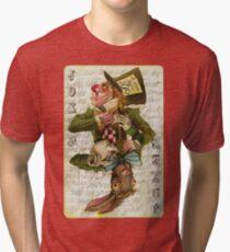 Mad Hatter Joker Card Tri-blend T-Shirt