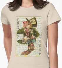Mad Hatter Joker Card Women's Fitted T-Shirt